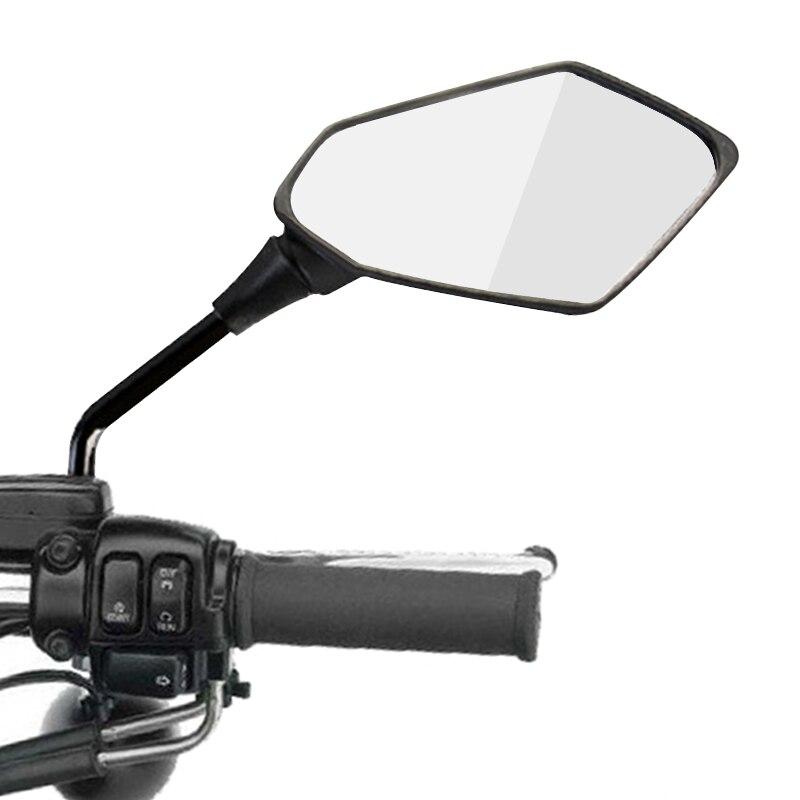 2 sztuk/para lusterko wsteczne motocyklowe skuter e-bike lusterka wsteczne tylna strona wypukłe lustro 8mm 10mm z włókna węglowego