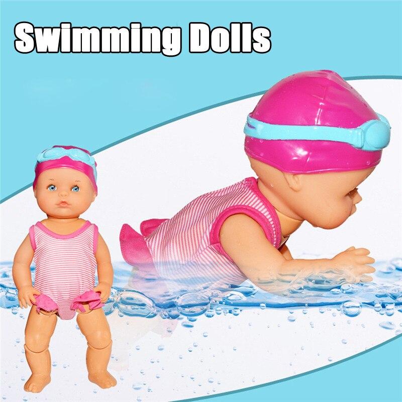 Wasserdicht Schwimmen Puppe Baby Bildung Smart Elektrische Puppen Wasser Spaß Gemeinsame Bewegliche Swim Dolls Infant Spielzeug Für Mädchen Geschenke