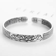 Adjustable Bracelet Jewelry Buddhist-Sutra Mantra Lotus Gift Compassion Heart Opening