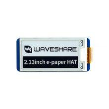 Chapéu e ink para raspberry pi, 2.13 polegadas, display de e ink 250 × 122, chapéu de papel para raspberry pi 4b/3b +/3b/zero jetson nano, para arduino stm32