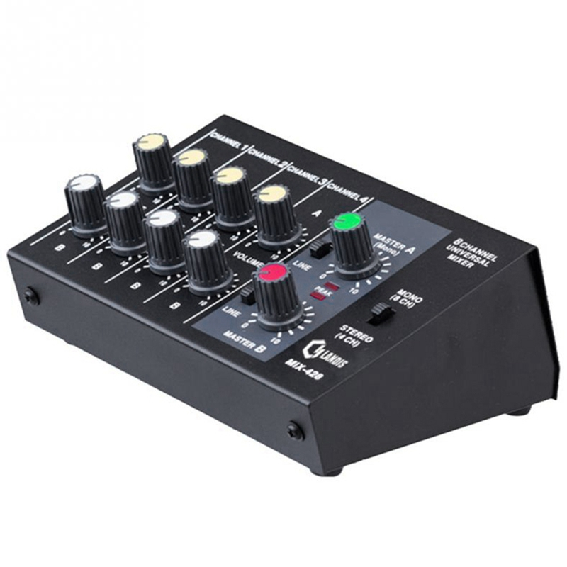 AMS-8 Channel Sound Universal Digital Mixer Adjusting Microphone Mixing Console Eu Plug