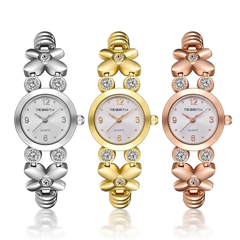 Women's Bracelet Watches Gold Female Butterfly Flower Bangle Watch Small Crystal Romantic Silver Quartz Elegant Woman Watch 2019 Women's Watches     - title=