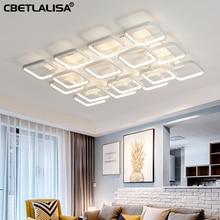 Led Chandelier for living room bedroom home white chandelier led ceiling lamp elegant lighting
