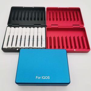 Image 4 - Moda 20 otwory psychicznego pudełko materiał ze stopu aluminium papierośnica dla IQOS do przechowywania papierosów pudełko
