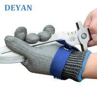 Professional Anti Cut Stainless Steel Wire Gloves Food Grade Cut Resistant Slaughtering Gloves Glass And Wood Working Gloves-in Schutzhandschuhe aus Sicherheit und Schutz bei