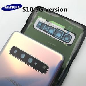 Image 5 - الأصلي الزجاج سامسونج غالاكسي S10 G977 G977F 5 جرام Versio عودة غطاء البطارية الباب الخلفي الإسكان حالة لاصقة لاصقة أدوات