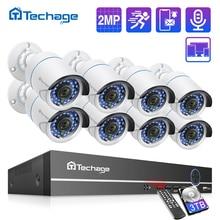 [クリアランスセール] H.265 8CH 1080 1080p 2.0MP poe nvrキットセキュリティカメラシステムオーディオ記録ipカメラcctvビデオ監視セット