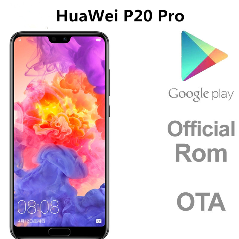 DHL Consegna Veloce HuaWei P20 Pro 4G LTE Telefono Cellulare Kirin 970 Android 8.1 6.1