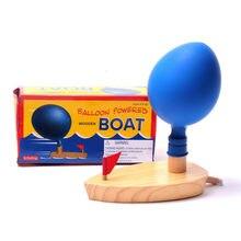 Jouets de bain en bois ballon Air alimenté bateau Science expérience apprentissage classique éducatif jouets de développement précoce pour les enfants