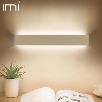 Lámpara de pared LED, lámpara moderna, aplique de pared interior, aplique minimalista para escalera, dormitorio, cabecera, sala de estar, recibidor de casa, iluminación de 10W y 20W
