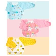 Бандана для новорожденных нагрудники Фартук для кормления младенца водонепроницаемый с длинным рукавом печати BMT074