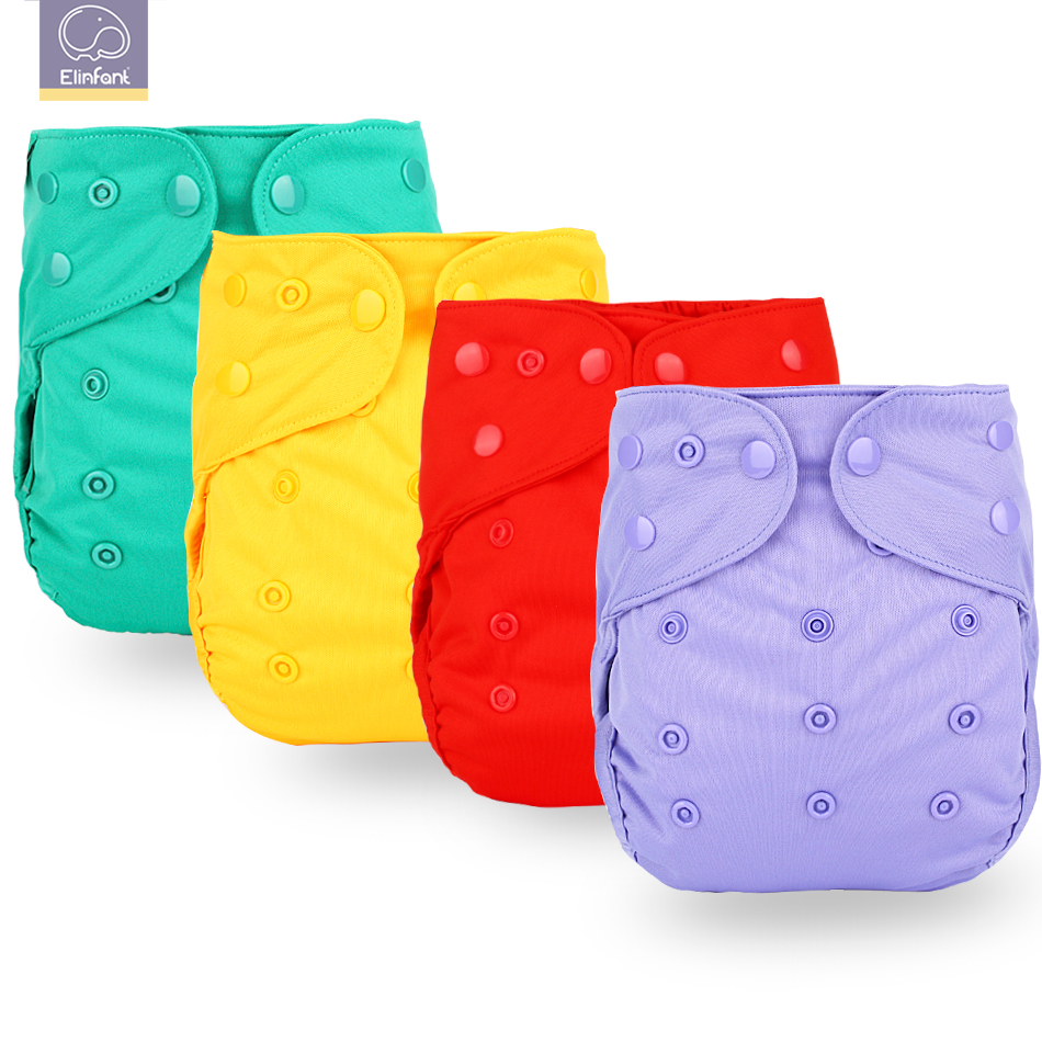 Elinfant New Arrival Baby Cloth Diaper Cover Waterproof Cartoon Fox Baby Washable Diapers Pocket Reusable Cloth Nappies