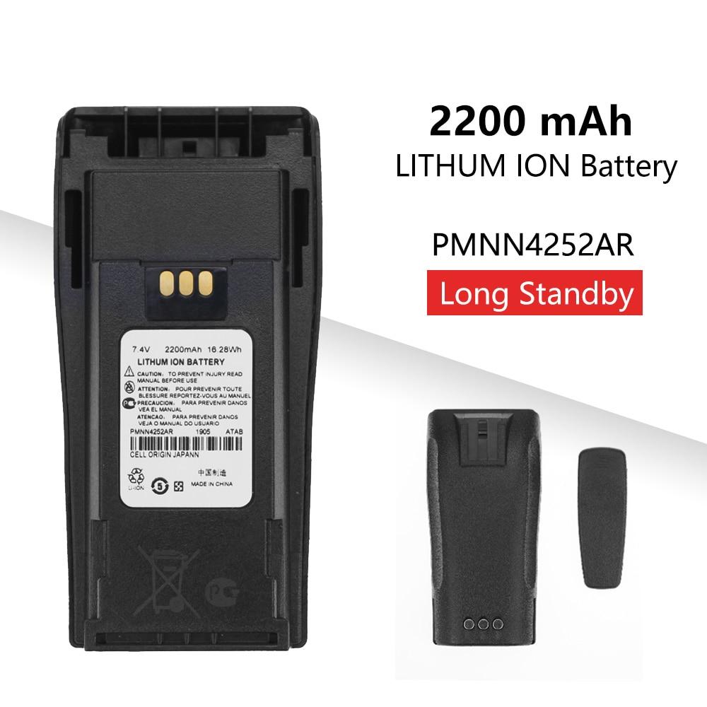 2200mAh PMNN4252AR Replacement Li-thium Battery For Motorola CP040 CP140 DP1400 Walkie Talkie