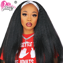 Human-Hair Wig Half-Wig Kinky Straight Beauty-Forever Women Brazilian Black 10''-24inch