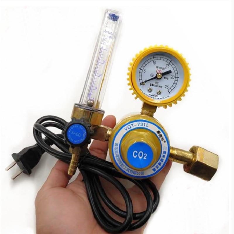 Pressure Regulator Pressure Reducer CO2 Carbon Dioxide Heated Pressure Gauge 36V 110V 220V