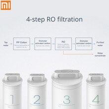 원래 Xiaomi 미 정수기 사전 위치 활성 탄소 필터 스마트 폰 원격 제어 가전 순수한 물