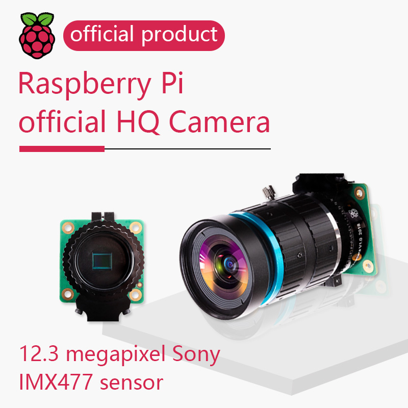 Raspberry Pi High Quality Camera HQ Camera 12.3MP Sony IMX477 With Adjustable Back Focus And Support For C- And CS-mount Lenses