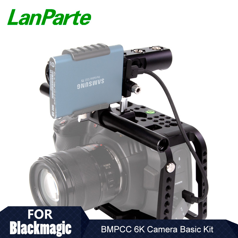 Lanparte Quick Release BMPCC 6K / 4K Camera Cage Rig with Manfortto 501Plate for Blackmagic Pocket Cinema Camera Accessories(China)