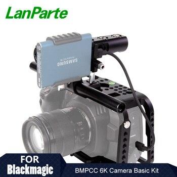 Lanparte Quick Release BMPCC 6K / 4K Camera Cage Rig with Manfortto 501Plate for Blackmagic Pocket Cinema Camera Accessories