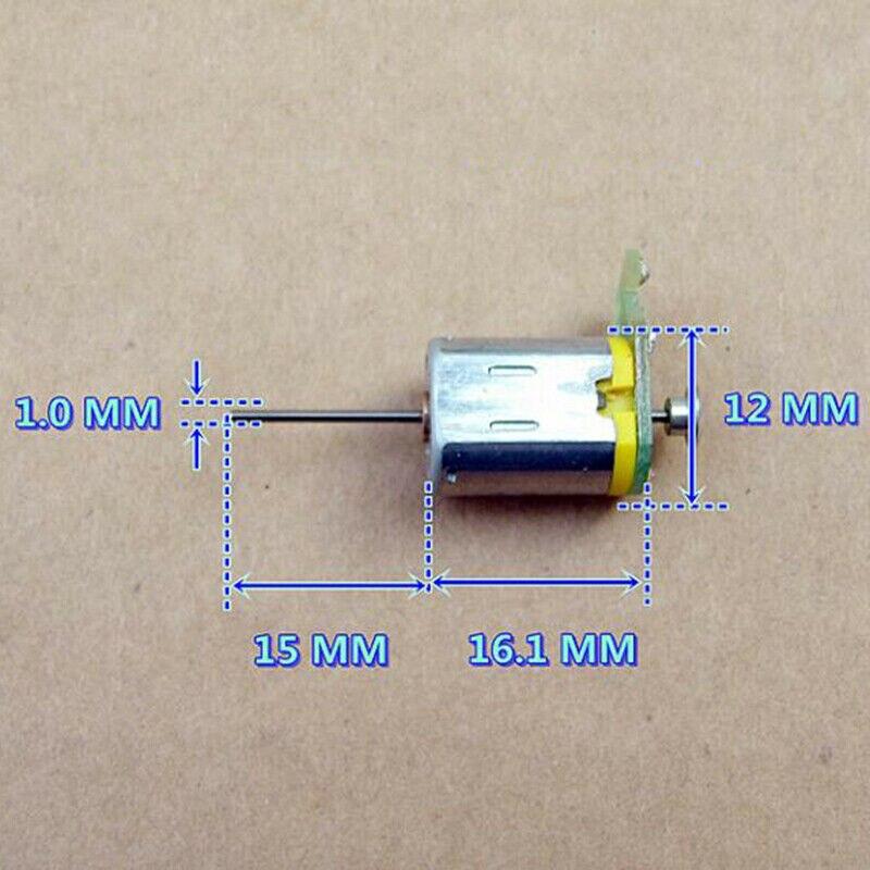 1 10mm*12mm DC 12V High Speed Dual Shaft N20 Micro Mini Motor DIY Toy Car Boat
