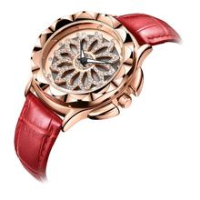 MEGIR Luxury Women Watches Fashion Rotated Dial Ladies Quartz Watch Red Leather Lovers Girl Wristwatches Clock Relogio Feminino цена