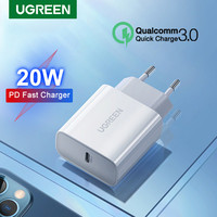 Ugreen-cargador USB tipo C para móvil, dispositivo de carga rápida 4,0 3,0, PD, 20W, para iPhone 12, 11 Pro, Max, X, 8, iPad, Huawei