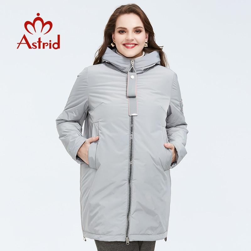 Astrid 2020 Весеннее новое поступление женская куртка верхняя одежда высокого качества размера плюс средней длины стильная женская модная одежда на молнии AM 8608|Парки|   | АлиЭкспресс