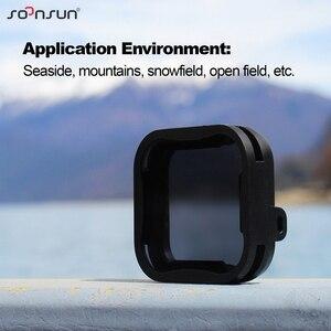 Image 4 - حافظة إطار حماية قياسية من SOONSUN مزودة بمرشح عدسات ND8 لكاميرا GoPro Hero 5/6/7 باللون الأسود ملحقات 7 Pro