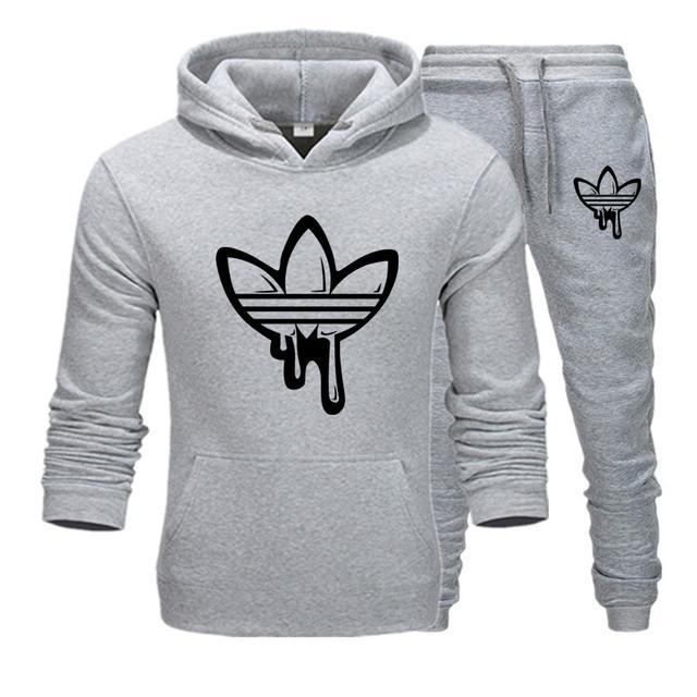 Conjunto de dos piezas moda sudaderas con capucha ropa deportiva hombre