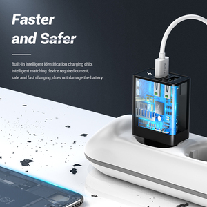 Image 5 - TOPK B254Q Quick Charge 3,0 Dual USB зарядное устройство адаптер EU Travel Wall QC3.0 быстрое зарядное устройство для телефона для iPhone Samsung Xiaomi