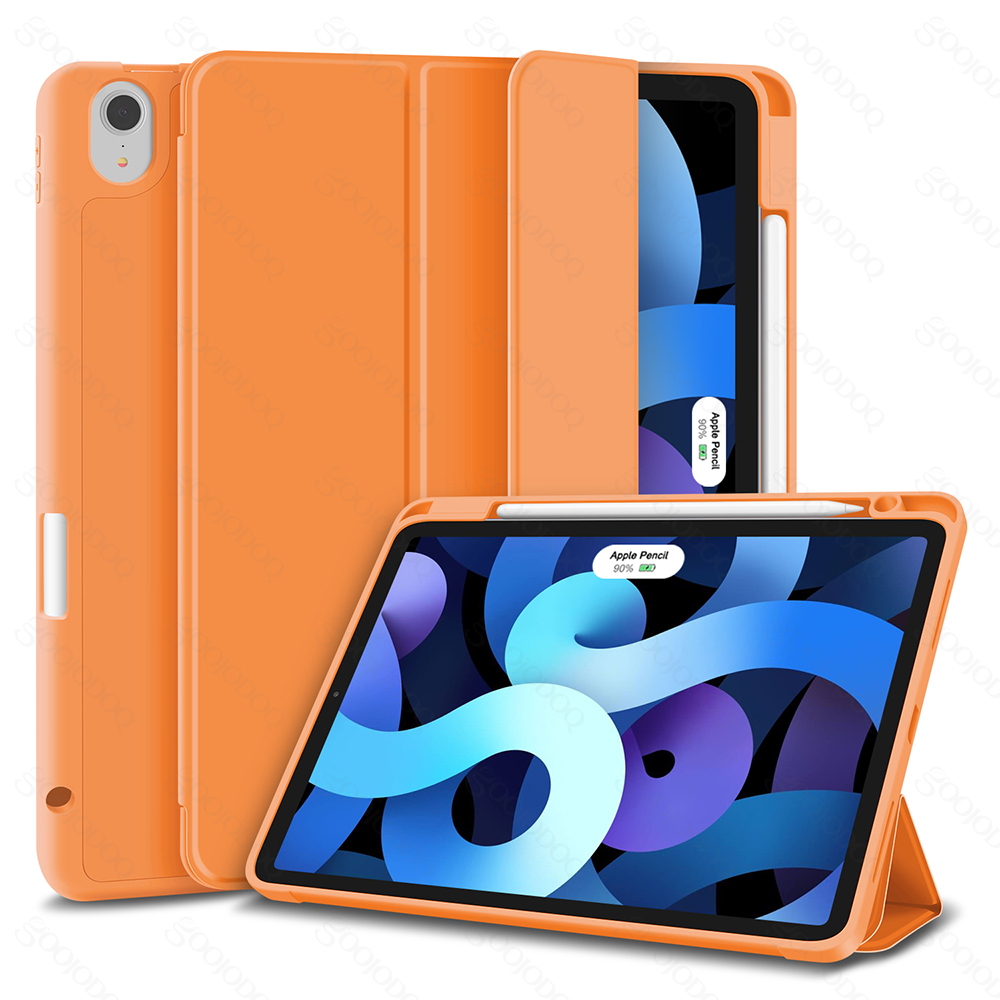 Orange Beige For iPad Air 4 Case for iPad air 2020 Case 10 9 Inch 4th Generation Smart