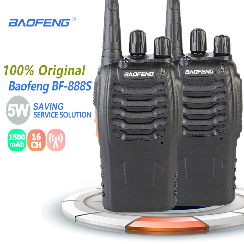 2pcs Baofeng BF-888S Portable Walkie Talkie UHF Two Way Radio Handheld Ham Radio HF Transceiver BF 888S Radio Comunicador Uniden