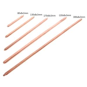 150 мм/200 мм/250 мм/300 мм труба из чистой меди трубка для компьютера ноутбука охлаждения ноутбука тепловая труба плоская или круглая Jy23 19 Droship