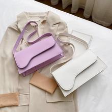 2020 moda kobiety torby torby tote ze skóry PU torby torebka o jednolitym kolorze pod pachami torby kobiet Retro torby podróżne na ramię tanie tanio CN (pochodzenie) WOMEN Stałe Torby na zakupy Hasp