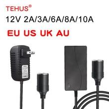 TEHUS AC to DC Converter,100-240V to 12V 2A3A5A8A10A Power Supply Adapter Car Cigarette Lighter Plug Outlet TransformerUS/EU/UK