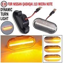 2 stücke Für Nissan Tiida C11 Hinweis E11 NE11 Micra K12 NP300 Navara D40 Qashqai J10 LED Dynamische Seite Marker blinker Lichter