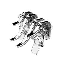 Metall ABS für PUBG Spiel Controller handy Gamepad Mobile Joystick Trigger Ziel Schießen L1 R1 Schlüssel Taste für IPhone android