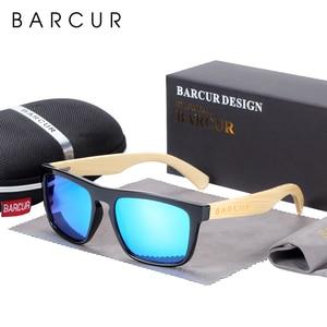 Image 5 - BARCUR erkekler kadınlar için polarize bambu güneş gözlüğü ahşap güneş gözlüğü lunette de soleil femme