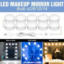 Светодиодный настенный светильник 3 цвета 2 6 10 14 лампы зеркало