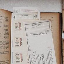 Colección Vintage de 260 Uds. De hojas de papel para diario, etiquetas adhesivas para álbum de recortes, planificador de papelería