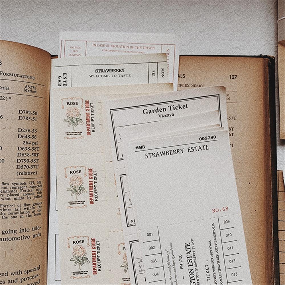 260 pçs coleção do vintage de bilhete stubs material papel diário planejador etiqueta diy scrapbooking sticky note adesivos de papelaria
