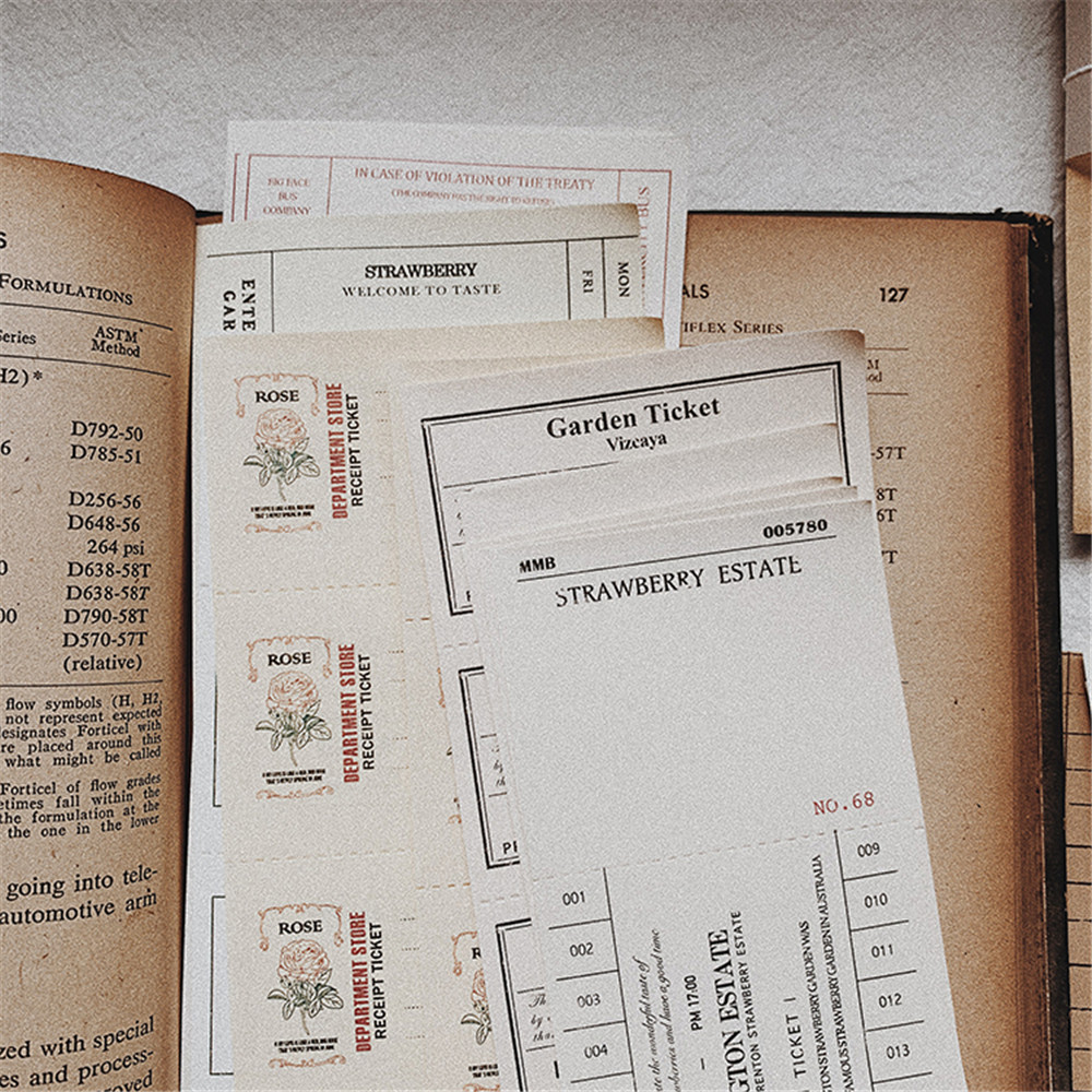 260 pcs colecao do vintage de bilhete stubs material papel diario planejador etiqueta diy scrapbooking sticky