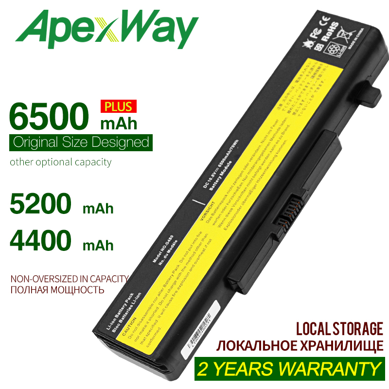 ApexWay Laptop Battery L11S6Y01 L11L6F01 For Lenovo G480 G400 Y480 Y485 Y580 Z580 G500 Z485 Z480 G485 G410 Z380 L116Y01 L11S6F01