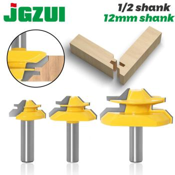 Set of 3 Lock Miter 45 Degree Glue Joint Router Bits .Glue Woodworking cutter Tenon Cutter for ToolsRCT - discount item  50% OFF Machinery & Accessories