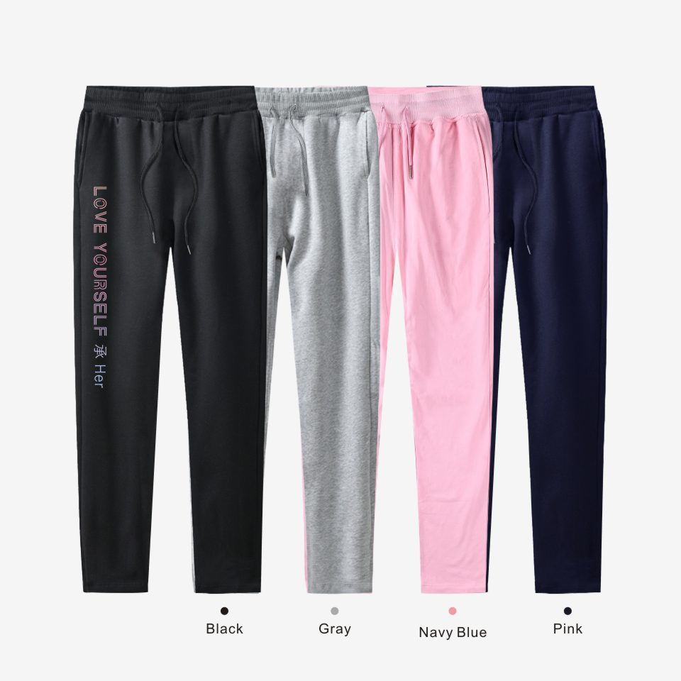 BTS Bulletproof Boys Celebrity Style Pants New Album LOVE Yourself Sports Men And Women Fashion Pure Cotton Sweatpants