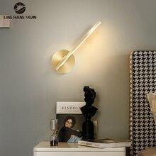 Modern LED Wall Light Indoor Lighting Wall Light Gold Body For Bedroom Bedside room Living room Dining room Study room Lamps 10W