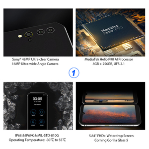 Image 4 - Smartphone Blackview BV9900 8GB+256GB Helio P90 Octa Core IP68 Rugged Mobile Phone Android 9.0 48MP Quad Camera NFC