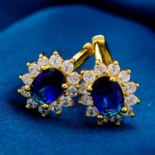 50 Different Styles 2019 New Fashion Small Earrings for Women Girls AAA Cubic Zirconia Crystal Gold Filled Jewelry Gift Earings