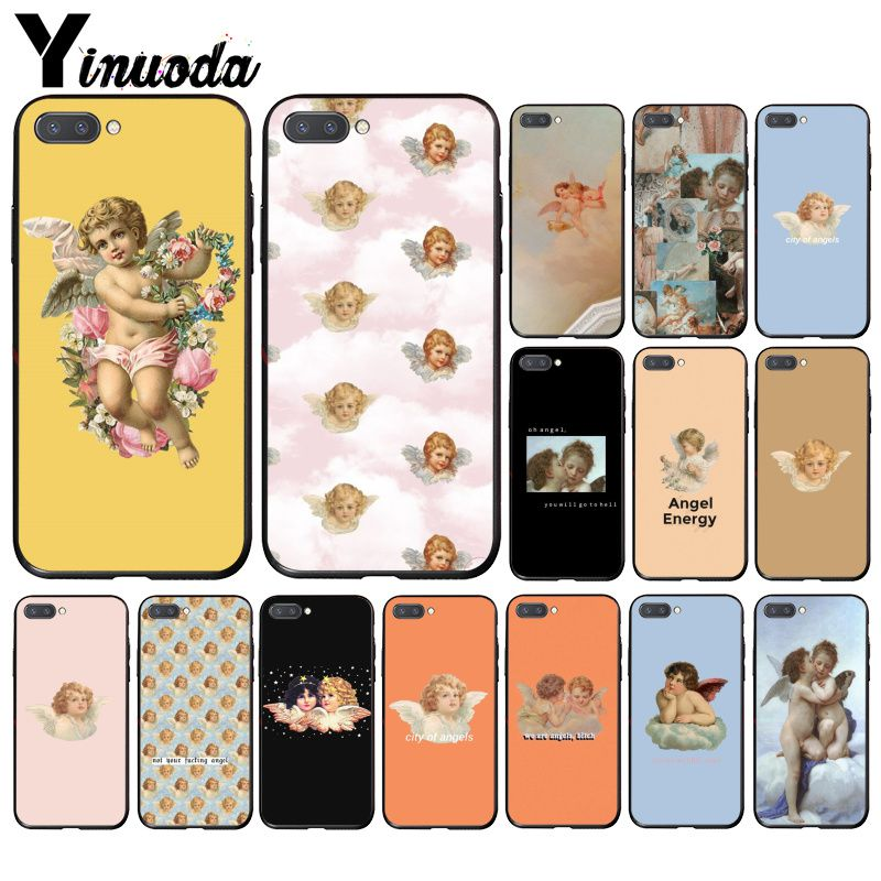 Yinuoda Vintage Painting Paradise Renaissance Angels  Phone Case For Huawei Honor 8A 8X 9 10 20 Lite 7A 5A 7C 10i 20i