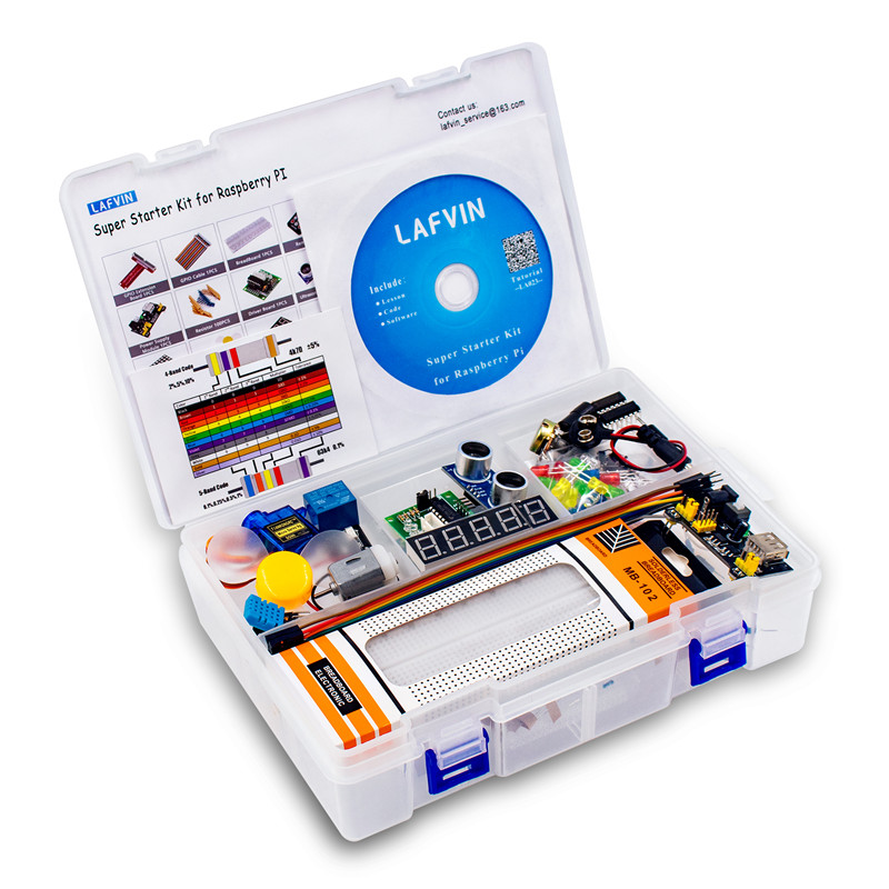 LAFVIN Ultimate Starter Kit Learning Kit for Raspberry Pi, Model 3B+ 3B 3A+ 2B 1B+ 1A+ Zero W+ Diy Kit